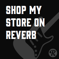 Shop My Store on Reverb 194px dark banner
