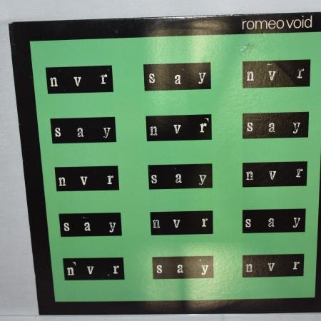 Romeo Void - Never Say Never - Vinyl