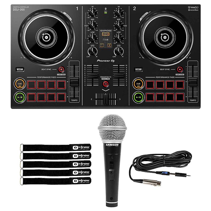 Pioneer DDJ-200 Portable Smartphone Tablet PC/Mac DJ Controller w Microphone