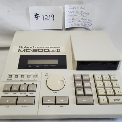Roland MC500 MKII  Micro Composer MIDI Sequencer #1219 Not Tested, Final Sale - Selling For Parts -
