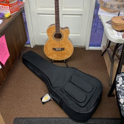 Johnson Acoustic Electric 4 string bass w/ Gig Bag JB-24NA for sale