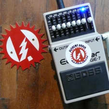 Boss GE-7 Graphic EQ Equalizer Alchemy Audio Modified Guitar Effects Pedal + Box