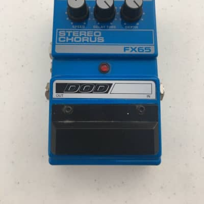 DOD Digitech FX65 Stereo Analog Chorus Rare Vintage Guitar Effect Pedal for sale