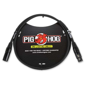 Pig Hog PHDMX3 3-Pin DMX Lighting Cable - 3'