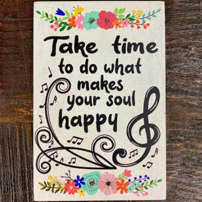 Life is Music Decor Plaque - Take Time