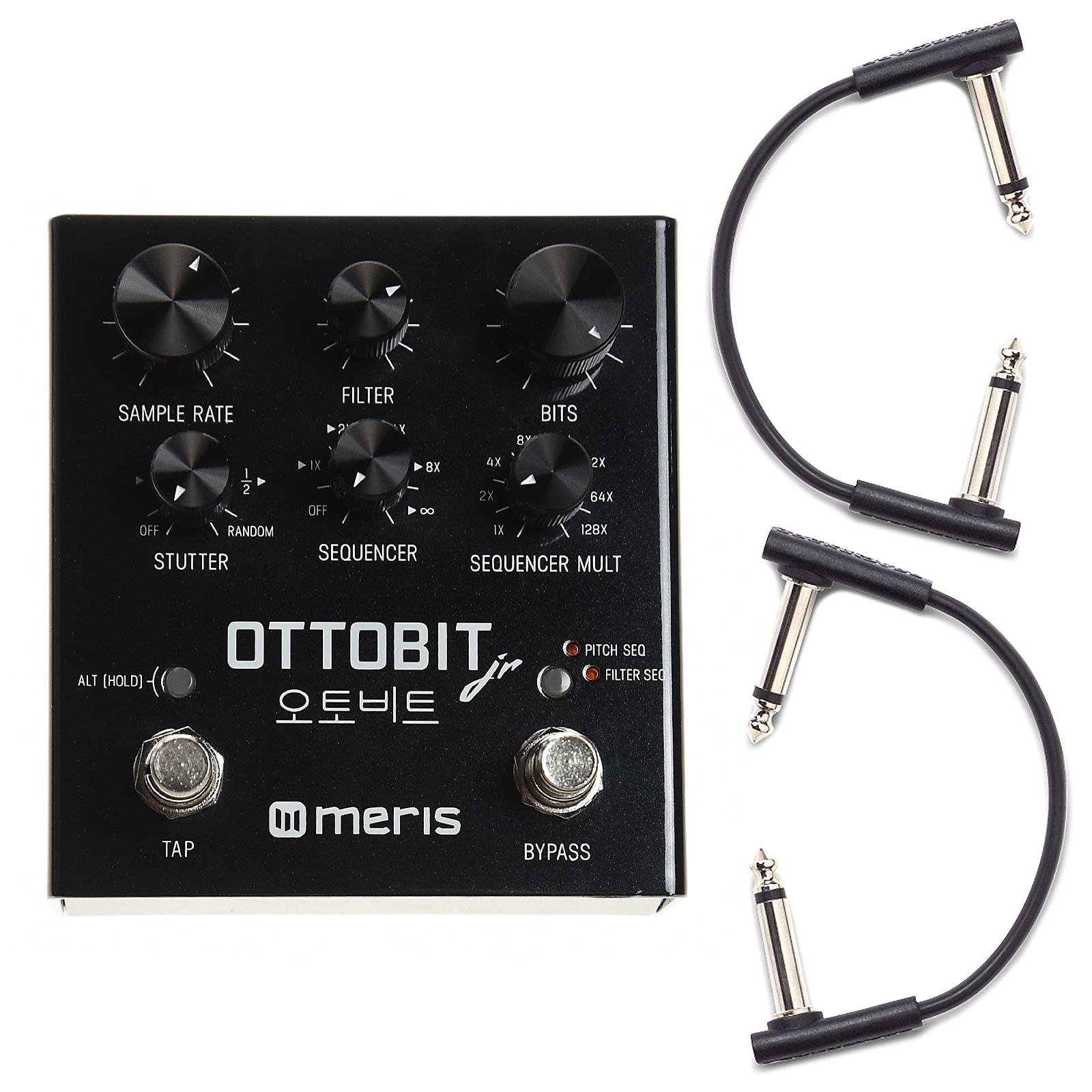 Meris Ottobit Jr. Bitcrusher Pedal w/RockBoard Flat Patch Cables Bundle