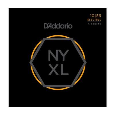 D'Addario NYXL1059 Nickel Wound 7-String Guitar Strings, Regular Light, 10-59