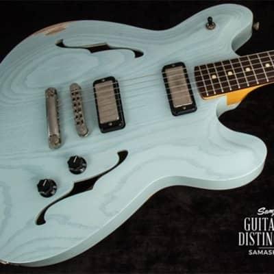 Fano Guitars Alt de Facto GF6 Semi-Hollow Body Electric Guitar TV Blue Medium Distress (SN:FB1706005)