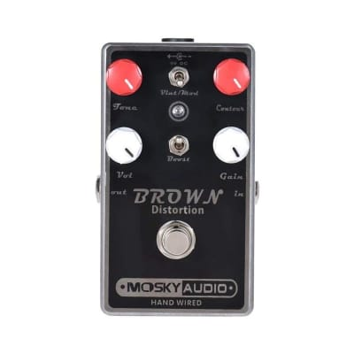 MOSKY BROWN Distortion Guitar Effect Pedal True Bypass Full Metal Shell Guitar Parts & Accessories