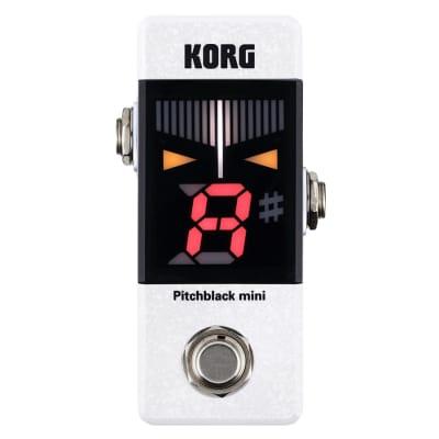 KORG Pitch Black Mini Tuner - White for sale