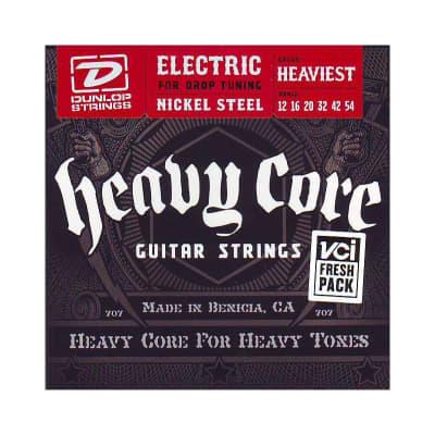 Dunlop Heavy Core Electric Strings 12-54