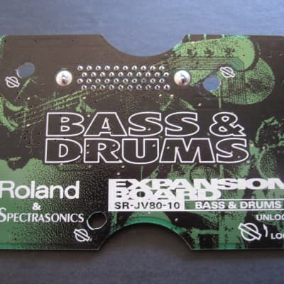 Roland SR-JV80-10 Bass Drums expansion board card XV-5080 3080 JV2080 1080 JD990 synth