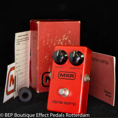 MXR Dyna Comp Block Logo 1980 s/n 2-046799 USA as used on many classic Nashville recordings.