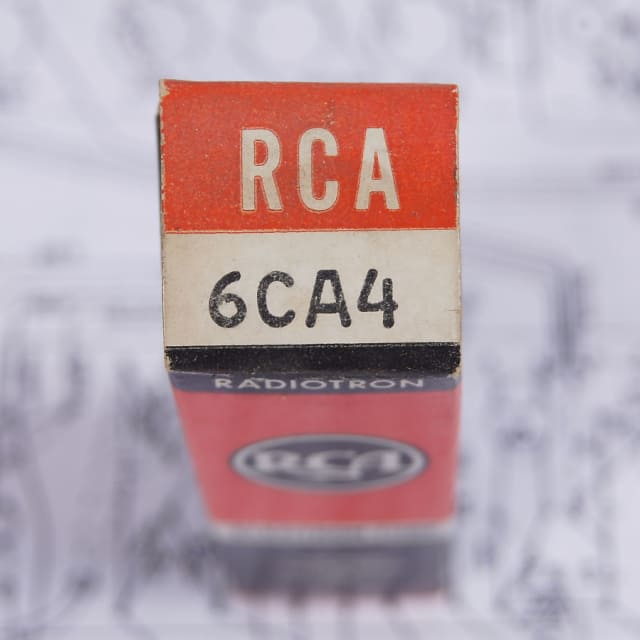 RCA 6CA4  1960's Glass NOS image