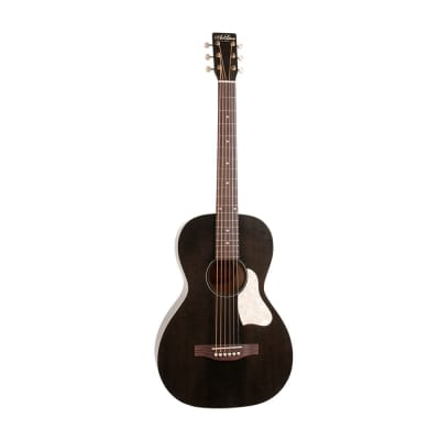 Art & Lutherie Roadhouse Acoustic / Electric Parlor Guitar - Faded Black for sale