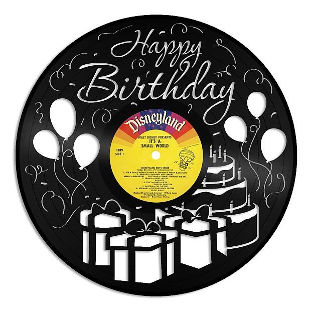 Happy Birthday Design Vinyl Wall Art - White / Framed | Reverb