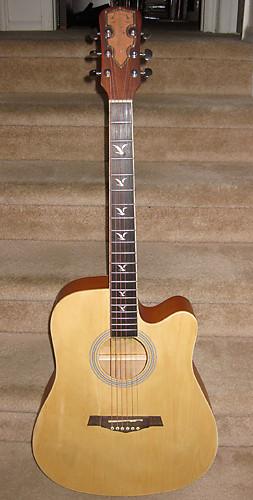 Martin Smith Acoustic Cutaway Guitar W Gigbag Luthier Reverb