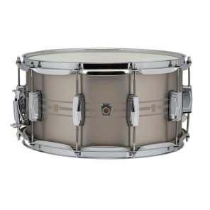 """Ludwig LSTSLS0714 Heirloom Stainless Steel 7x14"""" Snare with Imperial Lugs"""