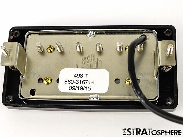 USA Gibson Les Paul 498T Humbucker PICKUP Chrome Black Ring | Reverb