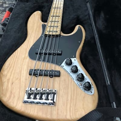 Fender American Jazz Deluxe 5 String 2014 Natural Ash for sale