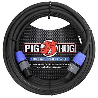 Pig Hog PHSC100SPK High Performance 14 Gauge 9.2mm speakON Speaker Cable, 100 Feet,Black