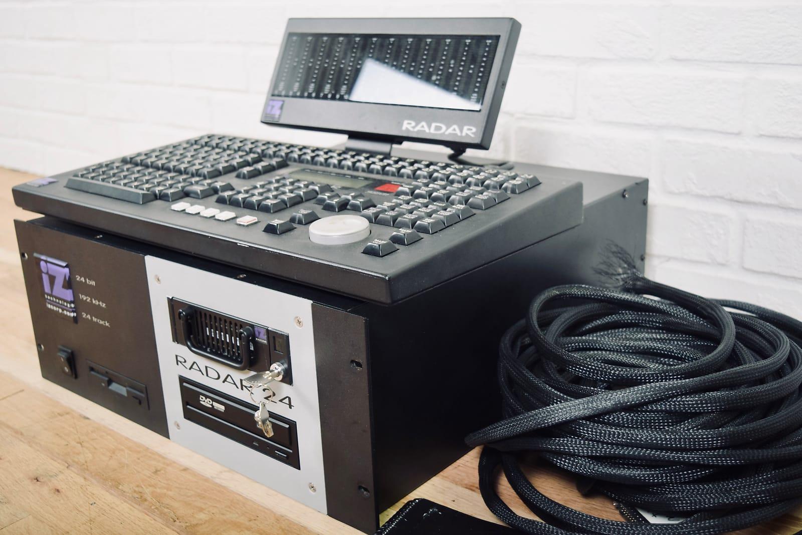 IZ Radar 24 track 192 khz digital recorder with controller, meter bridge  Analog