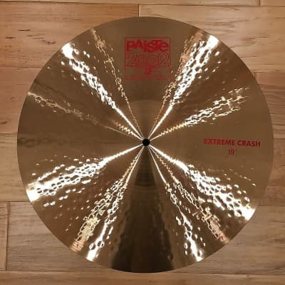 "Paiste 19"" 2002 Series Extreme Crash Cymbal w/ FREE Paiste T-Shirt"