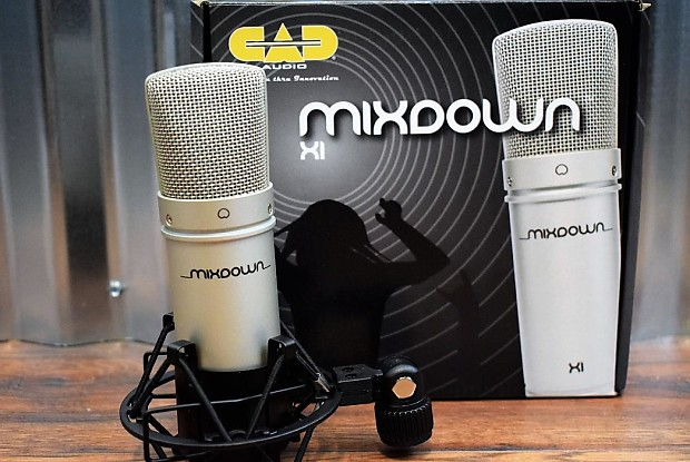 CAD Audio MixDown X1 Studio Condenser Microphone Recording Mic ShockMount
