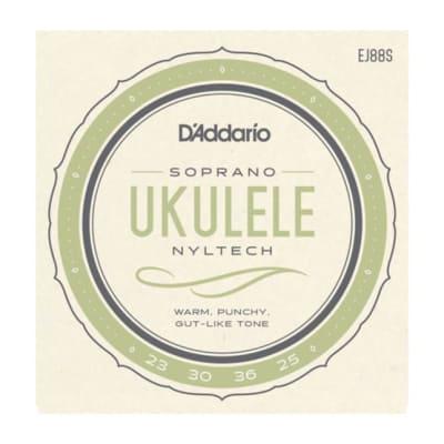 D'addario EJ88C Nyltech Ukulele, Concert Strings