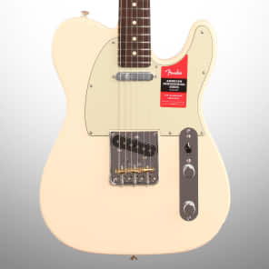Fender American Pro Telecaster Electric Guitar, Rosewood Fingerboard with Case, Olympic White for sale