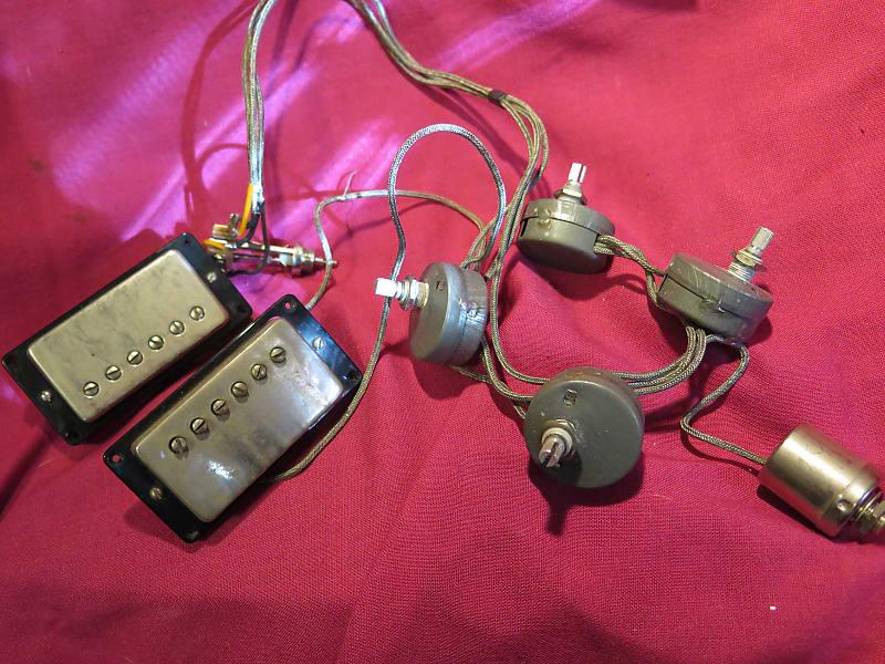 vintage 1961 Gibson PAF pickups complete original wiring harness for on