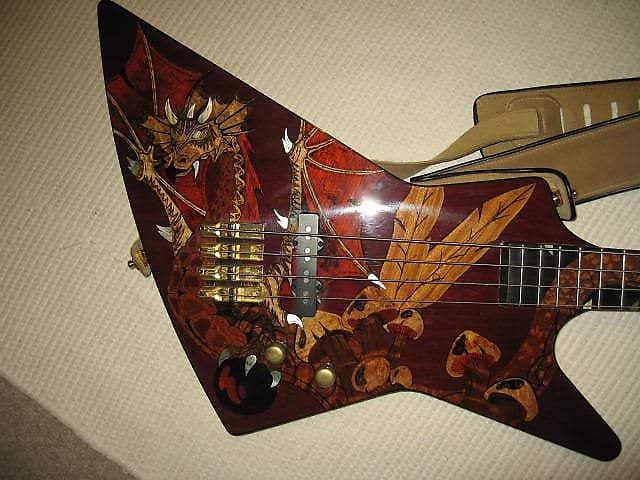 Head Guitar Dragon Bass   Custom One of a Kind image