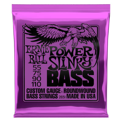 Ernie Ball Power Slinky Bass Nickel Wound Gauges .055 .075 .090 .110