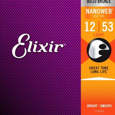 Elixir 11052 NanoWeb 80/20 Acoustic Light 12-53
