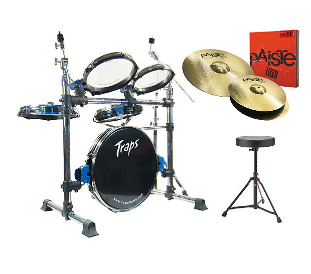 traps a400 acoustic drum kit with paiste 101 cymbals throne reverb. Black Bedroom Furniture Sets. Home Design Ideas