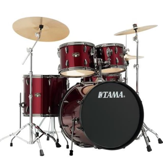 Tama IP52KH6NBAVTR 5-Piece Set w/Cymbals, Vintage Red, Free Shipping to Lower USA image