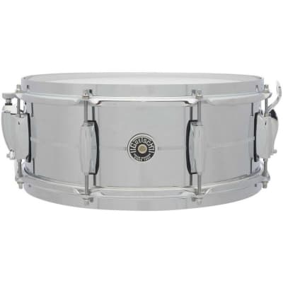 "Gretsch GB4165S Brooklyn Chrome Over Steel 5.5x14"" 8-Lug Snare Drum"