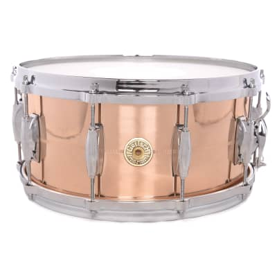 "Gretsch G4164PB USA Phosphorus Bronze 6.5x14"" 10-Lug Snare Drum"