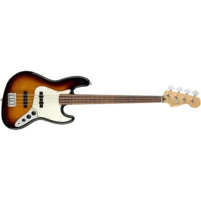 Fender Player Jazz Fretless Electric Bass Guitar, Pau Ferro Fingerboard, 3-Color Sunburst