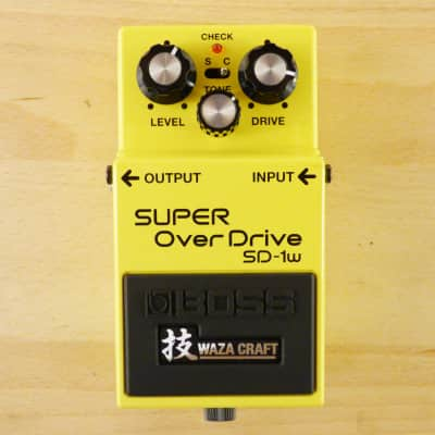 Vintage Boss SD-1W Waza Craft Super Overdrive Pedal - Guitar Effects Pedal - VG to EX Condition image