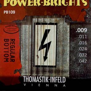 Thomastik-InfeldPB109 Power Brights Regular Bottom Magnecore Round-Wound Guitar Strings - Light (.09 - .42)