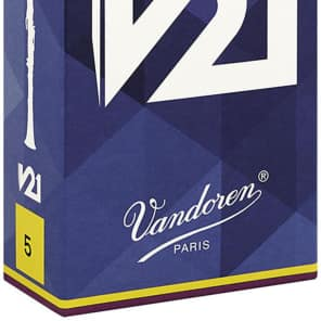 Vandoren CR805 V21 Series Bb Clarinet Reeds - Strength 5 (Box of 10)