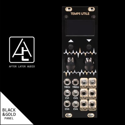 MXMXMX Micro Temps Utile uT_U uTu - Eurorack Module - Custom Black Gold Panel