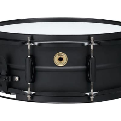 """TAMA Metalworks 5.5""""x14"""" Steel snare drum with Matte Black Shell Hardware"""