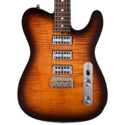 Suhr Custom Classic T One-Piece Maple Top & Back 2-Tone Sunburst w/TV Jones Pickups (Serial #JS3E2D)