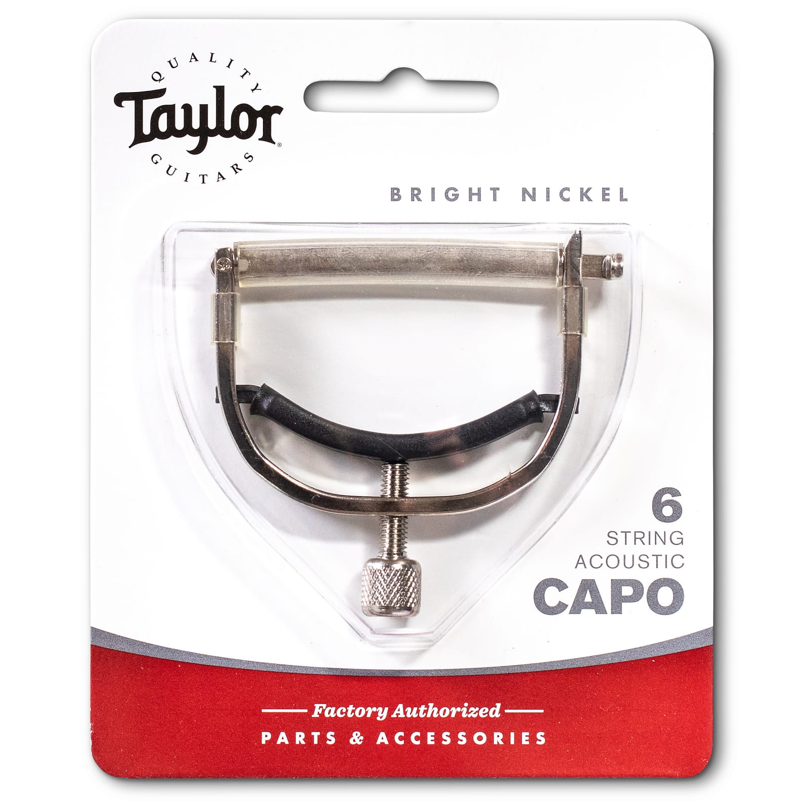 Taylor Capo, 6-String, Bright Nickel