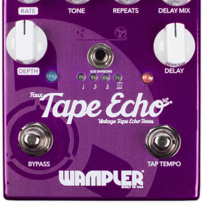 Wampler Faux Tape Echo v2 Delay Pedal for sale