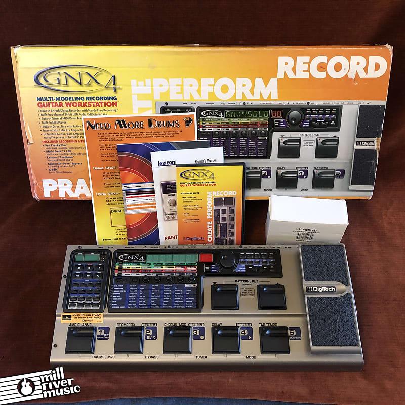 DigiTech GNX4 Multi-Modeling Recording Guitar Workstation Multi-Effects Pedal w/ Box