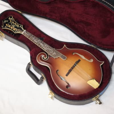 MICHAEL KELLY Legacy Dragonfly Flame acoustic electric MANDOLIN w/ CASE- BLEM for sale