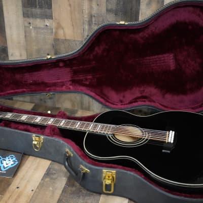 Guild F412 BLK 1974 Black 12 String Jumbo Acoustic Guitar Westerly Plant USA Rare Finish + Hard Case